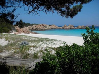 Rosa stranden i Budelli, Sardinien