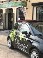 Oliveriet i Kristinehamn med Fiat 500.