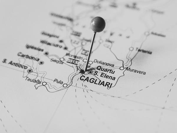 Karta Cagliari Sardinien