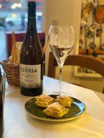 Dessert med dessertvin på Oliveriet